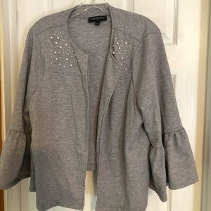 Lane Bryant Grey Cotton Blazer